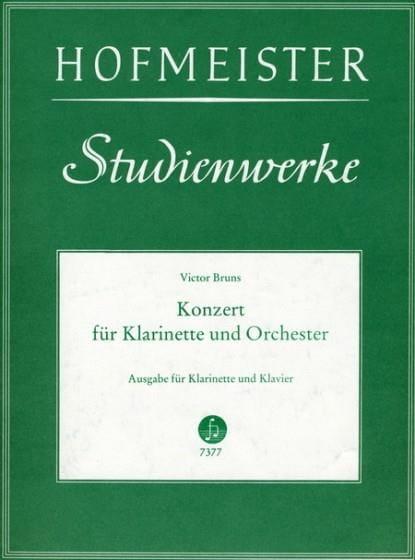Konzert Nr. 1 op. 26 für Klarinette - Victor Bruns - laflutedepan.com