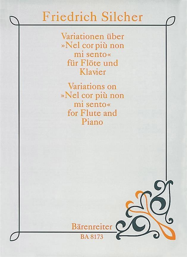 Variationen über Nel cor piu non mi sento - Flöte Klavier - laflutedepan.com
