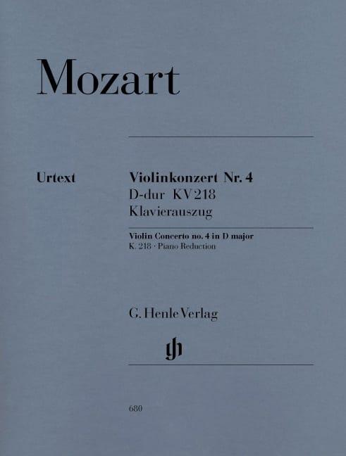 Concerto pour violon n° 4 en Ré majeur K. 218 - laflutedepan.com