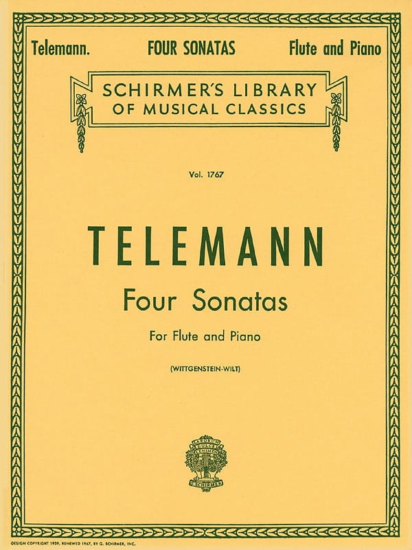 TELEMANN - 4 Sonatas - Flute and Piano - Partition - di-arezzo.co.uk