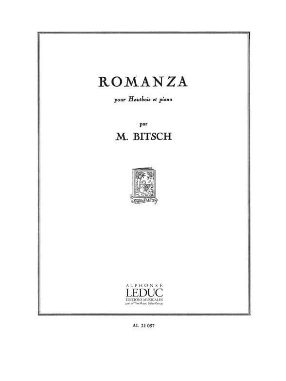Marcel Bitsch - Romanza - Partition - di-arezzo.co.uk