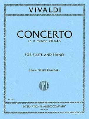 Concerto In A Minor Rv 445 - Flute Piano - VIVALDI - laflutedepan.com