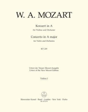 Violinkonzert A-Dur KV 219 - Matériel complet - laflutedepan.com