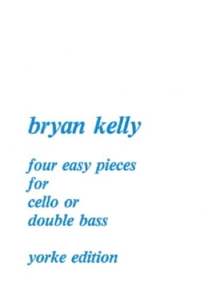 Bryan Kelly - 4 Easy Pieces for gold double bass cello - Partition - di-arezzo.co.uk
