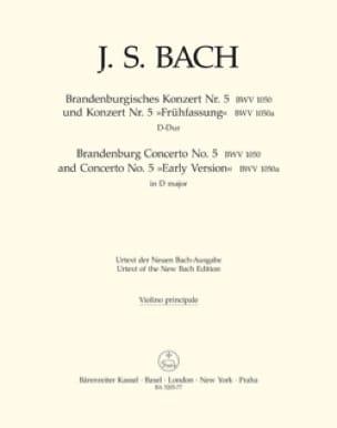 BACH - Concerto Brandebourgeois N° 5 und Konzert N°5 Frühfassung - Partition - di-arezzo.fr