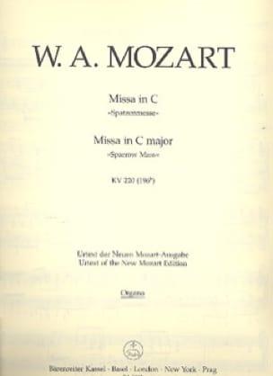 MOZART - Missa C-Dur Spatzenmesse KV 220 - Matériel Complet - Partition - di-arezzo.fr