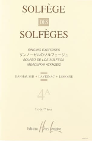 Volume 4a - S/A - Solfège des Solfèges - Lavignac - laflutedepan.com