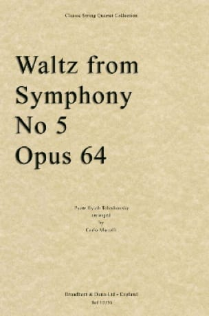 TCHAIKOVSKY - Waltz from Symphony No. 5 - Quartet String - Partition - di-arezzo.co.uk
