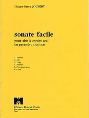 Claude-Henry Joubert - Easy Sonata - Partition - di-arezzo.com
