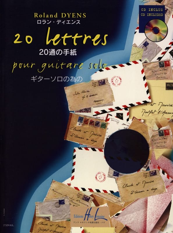 Roland Dyens - 20 Letters - Partition - di-arezzo.co.uk