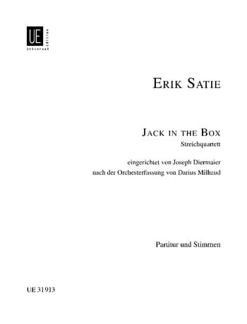 Jack In The Box - SATIE - Partition - Quatuors - laflutedepan.com