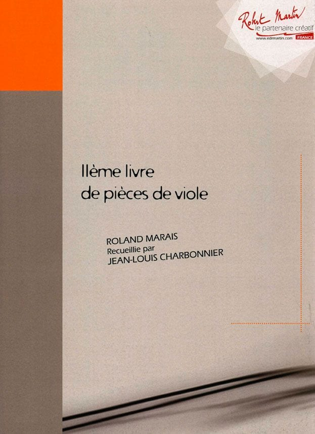 2ème Livre de pièces de viole - Roland Marais - laflutedepan.com