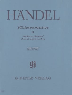 HAENDEL - Sonatas for flute volume 2 - Hallenser Sonaten - Partition - di-arezzo.com