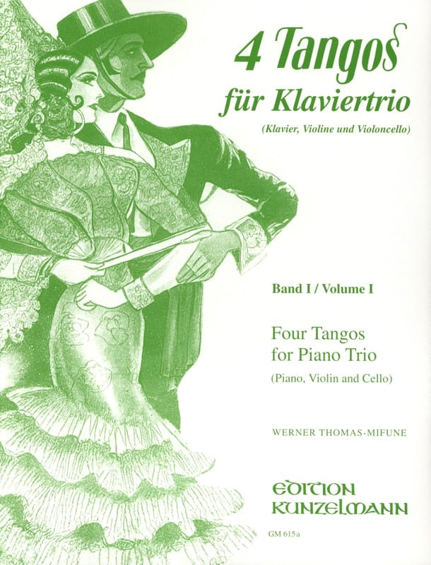 4 Tangos For Piano Trio Volume 1 - laflutedepan.com