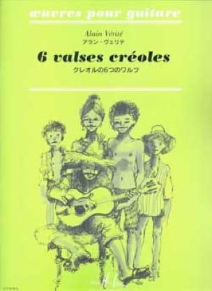 Alain Vérité - 6 Waltzes Creoles - Partition - di-arezzo.co.uk