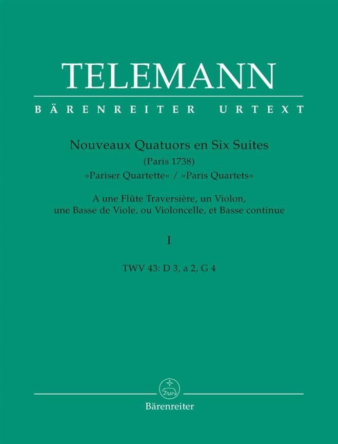 Nouveaux Quatuors en Six Suites - Bd. 1 - TELEMANN - laflutedepan.com