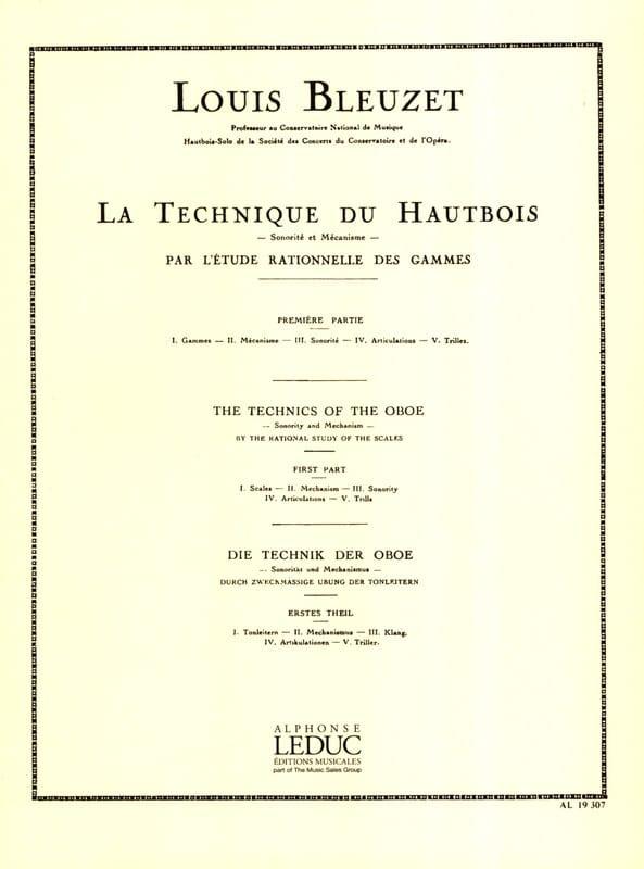Louis Bleuzet - The Volume 1 Oboe Technique - Partition - di-arezzo.co.uk