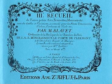 Recueil de Pièces Volume 3 - Michel Blavet - laflutedepan.com