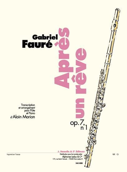 Gabriel Fauré - After a Dream Op. 7 N ° 1 - Partition - di-arezzo.co.uk