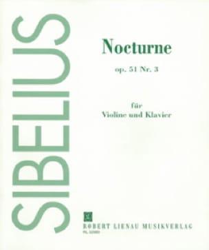 Jean Sibelius - Nocturne op. 51 n ° 3 - Partition - di-arezzo.es