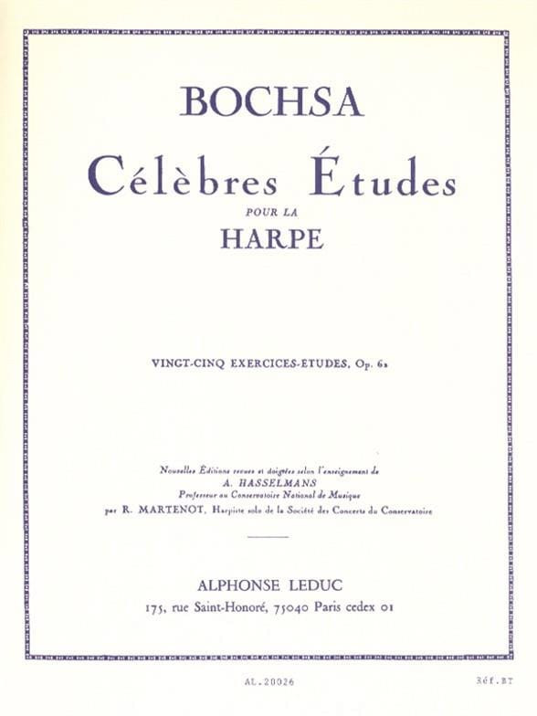 Charles Bochsa - 25 Exercises-studies op. 62 - Partition - di-arezzo.com