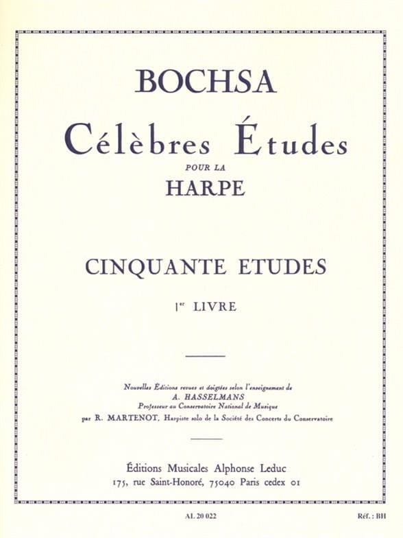 Charles Bochsa - 50 Etudes op. 34 - Book 1 - Partition - di-arezzo.com