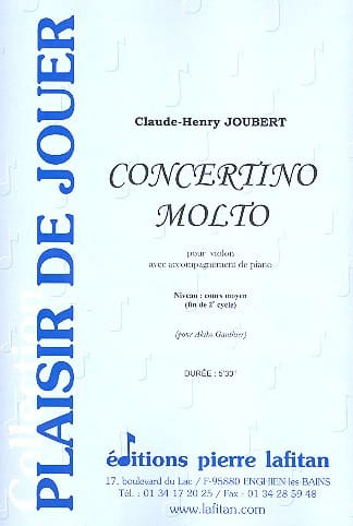 Claude-Henry Joubert - Concertino Molto - Partition - di-arezzo.co.uk