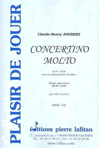 Claude-Henry Joubert - Concertino Molto - Partition - di-arezzo.com