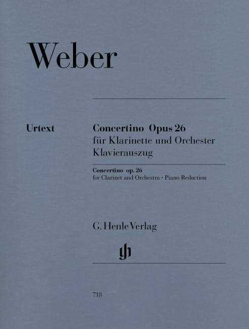 Carl Maria von Weber - Concertino op. 26 for clarinet and orchestra - Partition - di-arezzo.co.uk