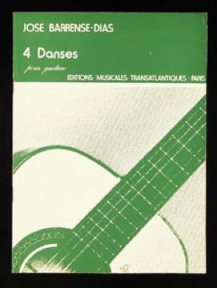 4 Danses - José Barrense-Dias - Partition - Guitare - laflutedepan.com