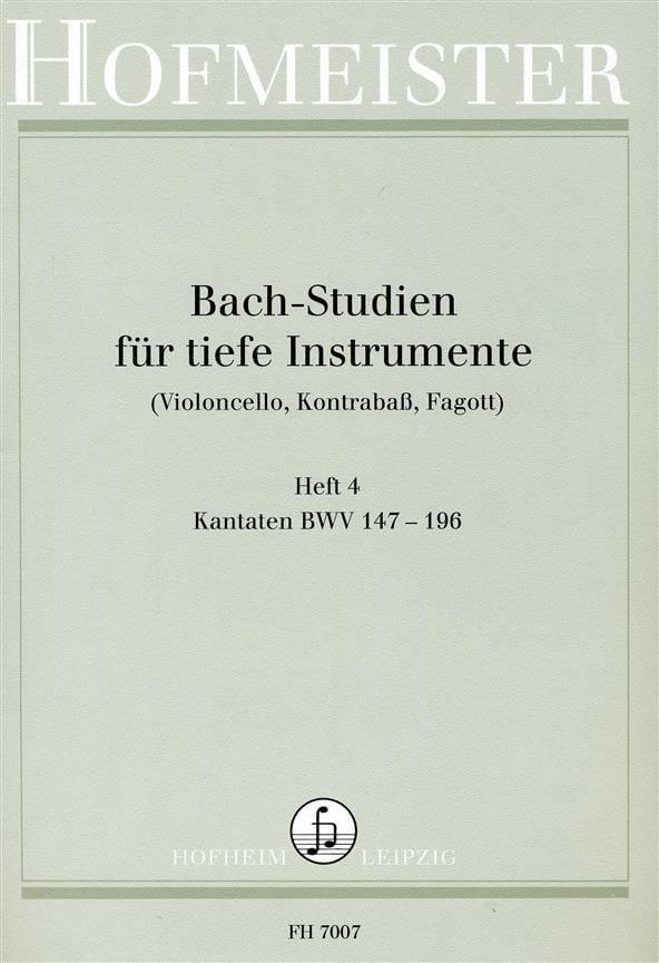 Bach Studien für tiefe Instr. - Heft 4 - BACH - laflutedepan.com