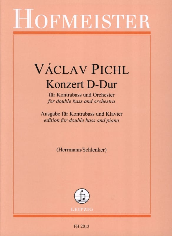 Konzert D-Dur - Kontrabass - Vaclav Pichl - laflutedepan.com