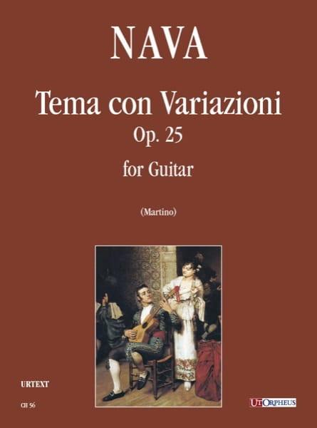 Tema con Variazioni op. 25 - Antonio Nava - laflutedepan.com