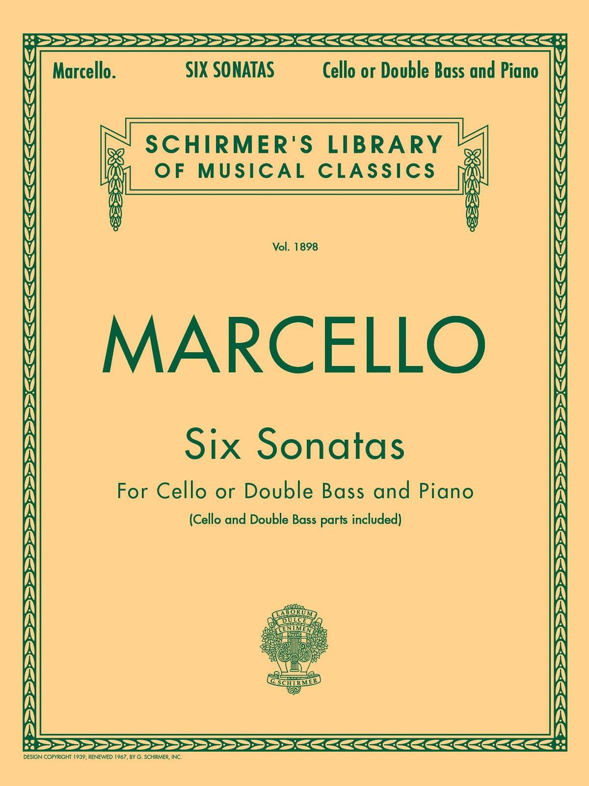 Benedetto Marcello - 6 Sonatas - Partition - di-arezzo.co.uk