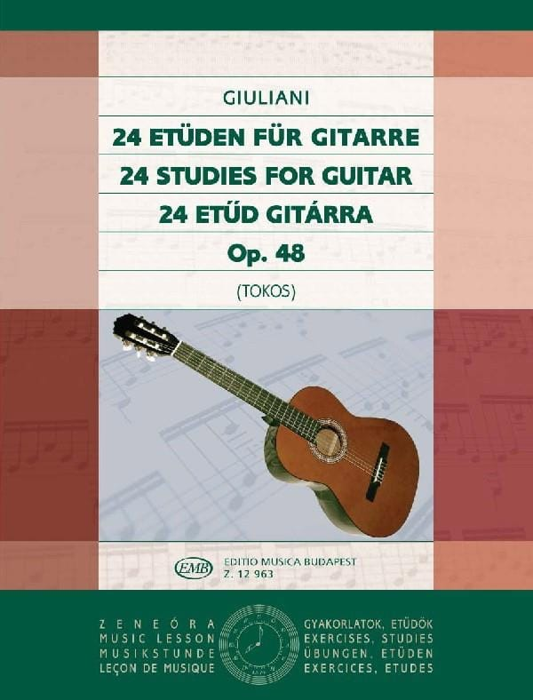 Mauro Giuliani - 24 Studies for guitar op. 48 - Partition - di-arezzo.co.uk