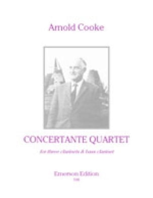 Concertante Quartet - Score - Arnold Cooke - laflutedepan.com
