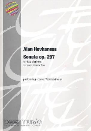 Sonata for 2 clarinets - Alan Hovhaness - Partition - laflutedepan.com