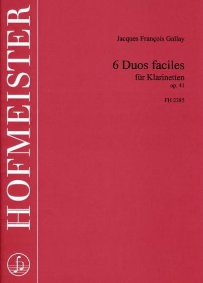6 Duos faciles op. 41 - Klarinetten - laflutedepan.com