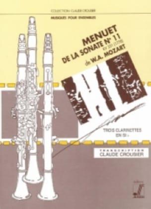 Menuet de la Sonate n° 11 KV 331 - Trio clarinettes - laflutedepan.com