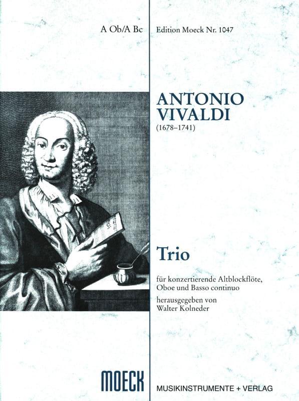 VIVALDI - Trío - Flauto dolce Oboe BC - Partitur 3 Stimmen - Partition - di-arezzo.es