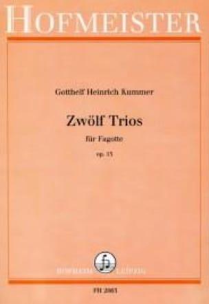 12 Trios Op. 13 - Gotthelf Heinrich Kummer - laflutedepan.com