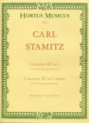 Carl Stamitz - Concerto No. 3 in C major - Cello - Partition - di-arezzo.co.uk