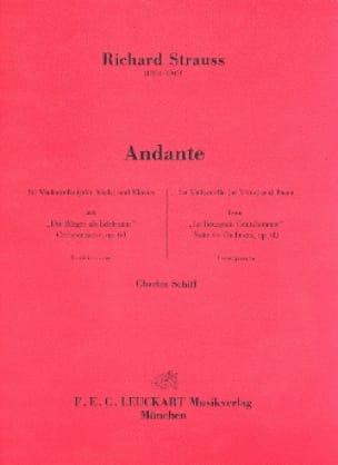Andante - Richard Strauss - Partition - Violoncelle - laflutedepan.com