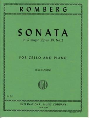 Sonate en sol maj. op. 38 n° 2 - ROMBERG - laflutedepan.com