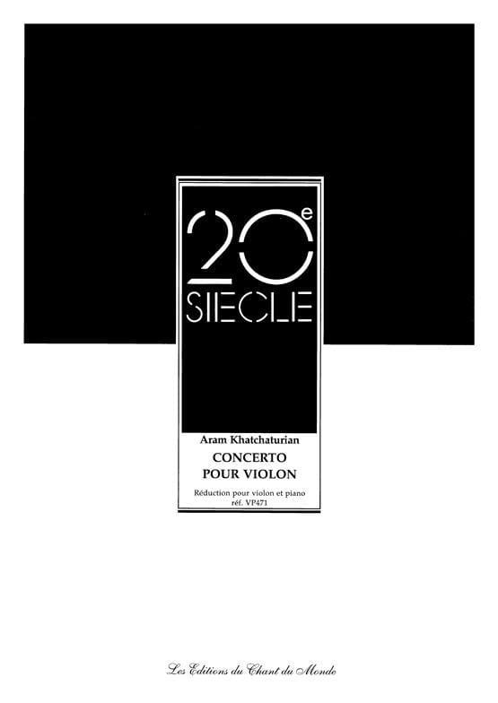 Aram Khatchaturian - Violin Concerto - Partition - di-arezzo.com