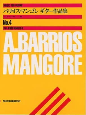Mangore Agustin Barrios - Music for guitar n ° 4 - Partition - di-arezzo.co.uk