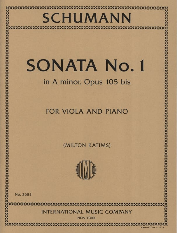 SCHUMANN - Sonata n. ° 1 en Op. Menor 105a - Partition - di-arezzo.es