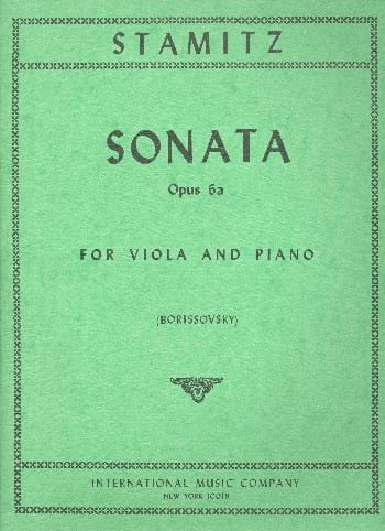 Sonate op. 6a - Johann Stamitz - Partition - Alto - laflutedepan.com