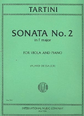 Sonata n° 2 in F major - TARTINI - Partition - Alto - laflutedepan.com