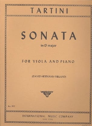 Sonata in D major - TARTINI - Partition - Alto - laflutedepan.com